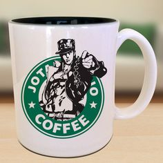 Jotaro Kujo x Starbucks Anime Manga by EternalRivalDesigns on Etsy