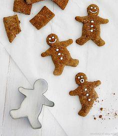 Gingerbread man dog treats