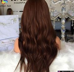 Luxury New Design Customized #4 Chocolate Color Natural Body Wave Lace Front Wigs 150% Density ...