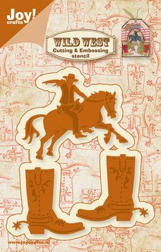 ***REDUCED*** JOY CRAFTS DIES ~ WILD WEST ~COWBOY & BOOTS ~ 6002/0423