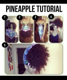 Pinneapple - I did this but not with a scarf. Good idea.