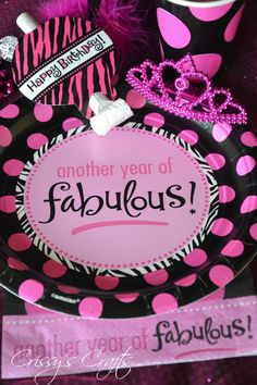 Crissy's Crafts: Glam Pink and Black - Another Year of Fabulous!