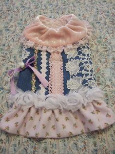 Shabby Chic dog harness coat size small £12.50