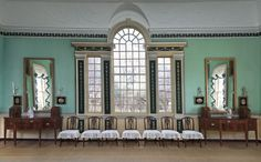 The north wall of the New Room, newly restored and rearranged to reflect the function of the room in Washington's time.