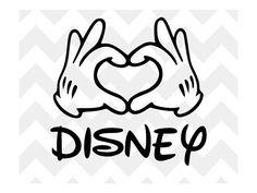 Mickey Heart Hands SVG Mickey Mouse Disney SVG Disney SVG