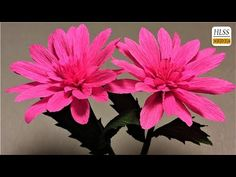 Super easy way to make paper flower| diy origami crepe paper flower making tutorials| paper crafts - YouTube