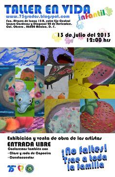 Poster del evento especial que se realizó para que los trabajos de los niños se hicieran en reproducciones serigráficas