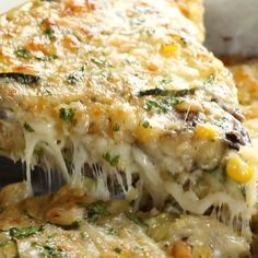 This crustless Sweet Corn and Zucchini Pie is so incredibly simple to make and it's the perfect way to enjoy summer produce! This crustless Sweet Corn and Zucchini Pie is so incredibly simple to make and it's the perfect way to enjoy summer produce! Zucchini Pie, Zucchini Tomato, Cheesy Zucchini Bake, Zucchini Casserole, Recipes With Zucchini, Zucchini Onion Pie Recipe, Squash Casserole, Cooking Recipes, Vegetarian Recipes