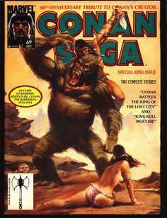 CONAN Saga #69 Robert E Howard KING KULL Barbarian Sword & Sorcery Fantasy
