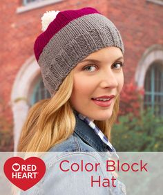 Color Block Hat Free