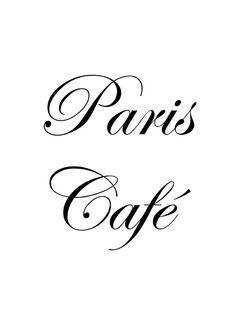 carta letras paris ♔ Paris Café