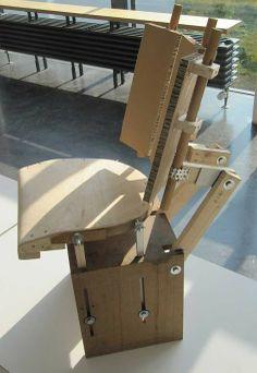 "GAP CHAIR / adjustable ""chair-machine"" for ergonomic studies"