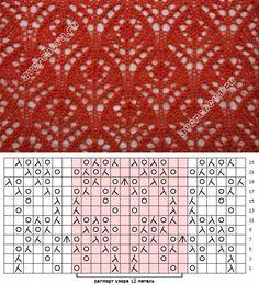 Lace knitting pattern Nr 272 ; flower inside diamond