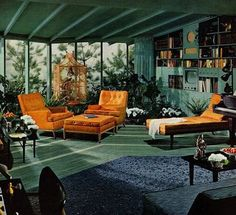 Orange & Teal Mid Century