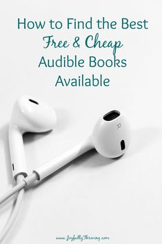Love audio books? Here's an easy way to find the best free & cheap audible books around! #audiobooks #audible #freebooks