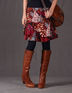 FIRST FALL PURCHASE: I just ordered this and cannot wait! RUFFLES! small ones. with boots. Emily Skirt
