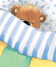 Wake up baby bear :* Tatty Teddy, Nursery Paintings, Animal Paintings, Cute Images, Cute Pictures, Mushroom Pictures, Good Night Moon, Cute Teddy Bears, Moon Art
