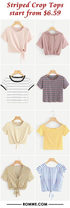 Striped Crop Tops from $6.59