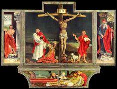 """Matthias Grünewald, """"Retablo de Isenheim"""". Temple y óleo sobre madera de Tilo, 1512-1516 - See more at: http://educacion.ufm.edu/matthias-grunewald-retablo-de-isenheim-temple-y-oleo-sobre-madera-de-tilo-1512-1516/#sthash.wia1r1Zr.dpuf"""
