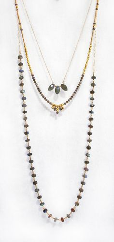 LABRADORITE rosary necklace by shopkei on Etsy, $82.00 I love all three of these necklaces!
