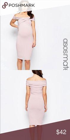 Maternity dress Lovely | midi | bodycon dress | T -twist off the shoulder | ASOS Maternity Dresses Midi
