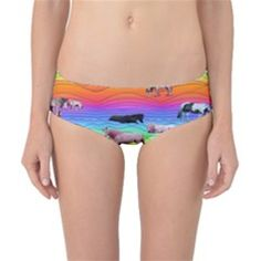 Horses In Rainbow Classic Bikini Bottoms by CosmicEsoteric
