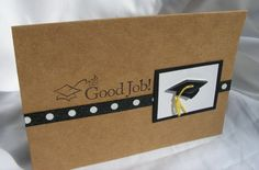 Good Job Graduate Cap and Tassel Greeting by PlaysNicelyWithPaper - darling!