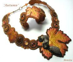'Autumn' bead embroidery set, made by Bonita Hendriks