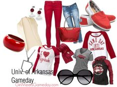 University of Arkansas Gameday Razorbacks