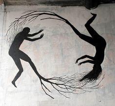 New Tree Murals by Pablo S. Herrero  http://www.thisiscolossal.com/2014/05/new-tree-murals-by-pablo-s-herrero/