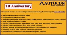 Online store Autocon, celebrate 1st launch Anniversary on 17th August.
