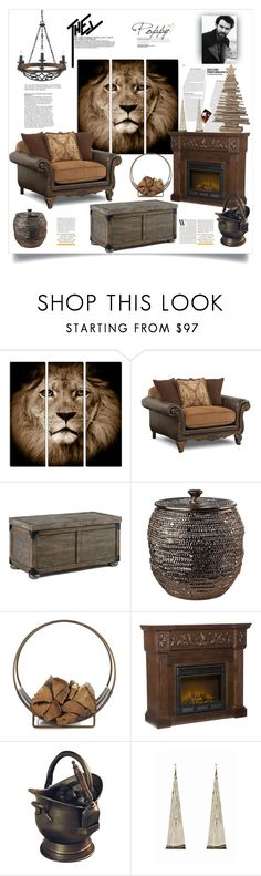 """""""The King"""" by ildiko-olsa ❤ liked on Polyvore featuring interior, interiors, interior design, home, home decor, interior decorating, Pols Potten, Crate and Barrel, Dibor and Arteriors"""