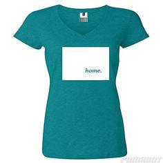 Teal Colorado Home State cotton v-neck shirt