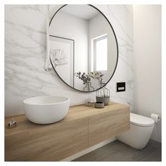 STYLE TABOO  Minosa Design - Powder Room [Australia]  - Cool - We have a huge mirror like this one.