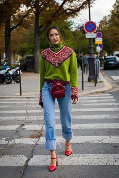 Day 8 | Paris Fashion Week Street Style Spring 2018 | POPSUGAR Fashion Photo 23