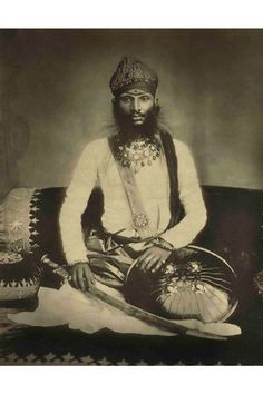 A portrait of Maharaja Bundi by Raja Deen Dayal, one of India's most celebrated 19th-century photographers, is full of interesting details. #refinery29 http://www.refinery29.com/homegrown/3#slide-3