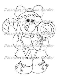 Pintura Country e Motivos Infantis: Desenho de bonecas Ginger