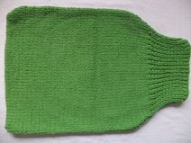 Strampelsack Schurwolle 60cm Pucksack gestrickt