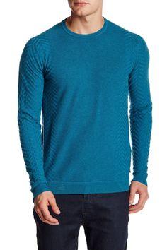 Herringbone Long Sleeve Sweater