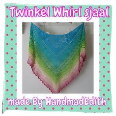 De Twinkel Whirl sjaal is gemaakt met één bol Scheepjes Whirl. Meer info over gratis patroon zie www.facebook.com/HandmadEdith