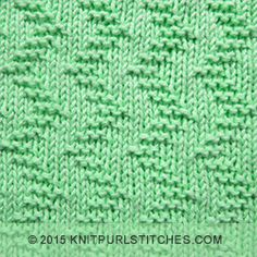 Garter Zig Zag on a stockinette stitch background. Easy to knit and easy to remember, too,