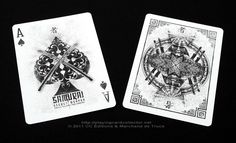 Bicycle Samurai Playing Cards by Sam Hayles (DOSE Productions)