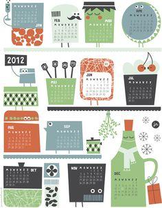 101 wenst je een prachtig 2012! | 101 Woonideeën – gorgeous printable calendar ♥♥♥