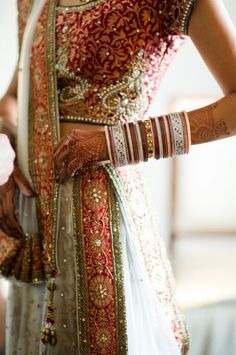 Red, white, pink wedding lengha and chura - New Ideas Indian Wedding Fashion, Big Fat Indian Wedding, Indian Bridal Wear, Indian Wear, Pakistani Bridal, Bridal Lehenga, Ethnic Fashion, Asian Fashion, Gq Fashion
