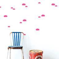 Ferm Living Wall Decals Mini Clouds black vinyl 27 pieces of Scandinavian Home Interiors, Scandinavian Furniture, Modern Furniture, Mur Diy, Kids Decor, Home Decor, Vinyl, Wall Stickers, Rum