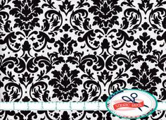 Damasco bianco e nero tessuto dall