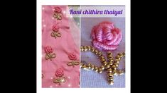 Hand Stitching, Floral Tie, Hand Embroidery, Knots, Beads, Rose, Creative, Floral Lace, O Beads
