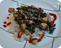 Spicy Garlic and Ginger Chicken with Green Beans