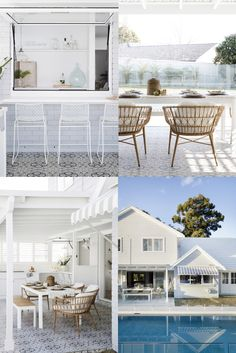 Recreate this look by Three Birds in your home. Our Middleton Beach tile is featured in the alfresco area of Three Birds House House Inspo, Dream Beach Houses, Alfresco Area, House Styles, New Homes, Hamptons House, House, House Designs Exterior, Outdoor Living