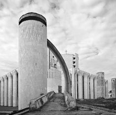 architectureofdoom:    Fyodor Dostoevsky Theater of Dramatic Art, Veliky Novgorod, Vladimir Somov, 1980's